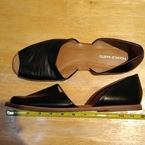 EUC 13M FRANCO SARTO LEATHER FLATS SANDALS VENEZIA